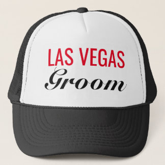 Las Vegas Groom Wedding Trucker's Hat