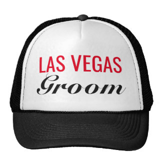 Las Vegas Groom Wedding Trucker's Hat