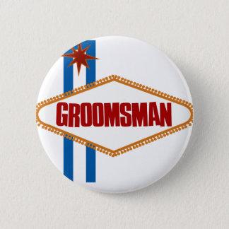Las Vegas Groomsman 6 Cm Round Badge