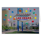 Las Vegas Happy 21st Birthday Card in Blue