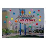 Las Vegas Happy 50th Birthday Card  in Pink