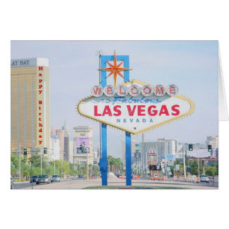 Las Vegas Happy Birthday Card
