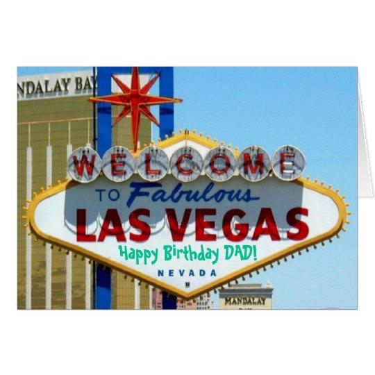 Las Vegas Happy Birthday DAD! Card