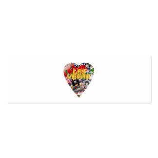 Las Vegas Heart Playing Card Shape Business Cards