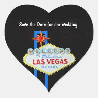 Las Vegas Heart Shaped Wedding Heart Sticker