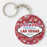Las Vegas Hearts Keychain