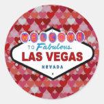 Las Vegas Hearts of Fun Sticker