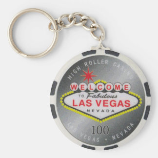 Las Vegas High Roller $100 Poker Chip Keychain