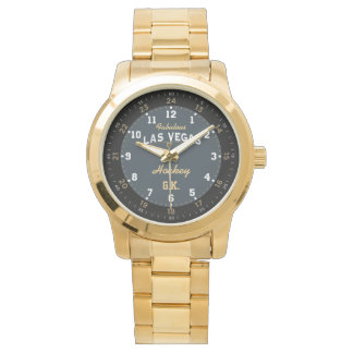 Las Vegas Hockey Gold Bracelet Watch