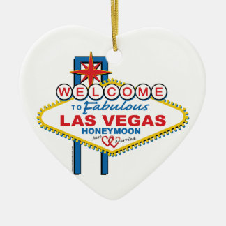 Las Vegas Honeymoon Christmas Ornament