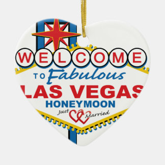 Las Vegas Honeymoon retro Christmas Ornament