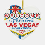 Las Vegas Honeymoon retro Christmas Ornaments