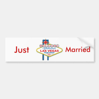 Las Vegas Honeymoon/Save the Date Bumper Sticker