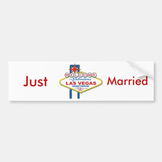 Las vegas honeymoon save the date bumper sticker