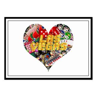 Las Vegas Icons - Heart Shape Business Card