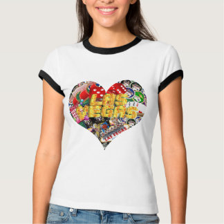 Las Vegas Icons - Heart Shape T-Shirt