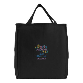 Las Vegas Just Married Embroidered Tote Bag