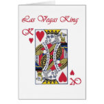Las Vegas King of Hearts Card