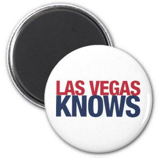 Las Vegas Knows 6 Cm Round Magnet