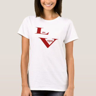 Las Vegas Ladies Fitted Spaghetti T-Shirt