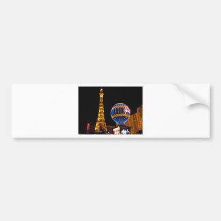 Las Vegas Las Vegas City Illuminated Night Casino Bumper Sticker