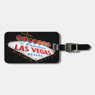 Las Vegas Luggage Tag (Red)