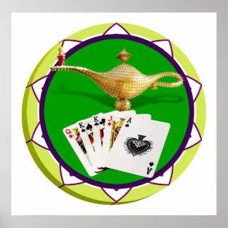 Las Vegas Magic Lamp Poker Chip Print