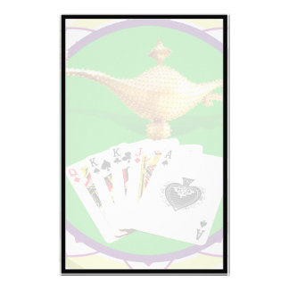 Las Vegas Magic Lamp Poker Chip Customized Stationery
