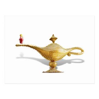 Las Vegas Magic Lamp Postcard