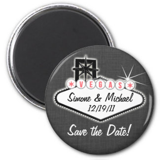 Las Vegas Magnet - Save the date - round or square