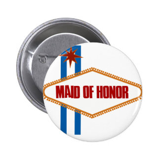 Las Vegas Maid of Honor 6 Cm Round Badge