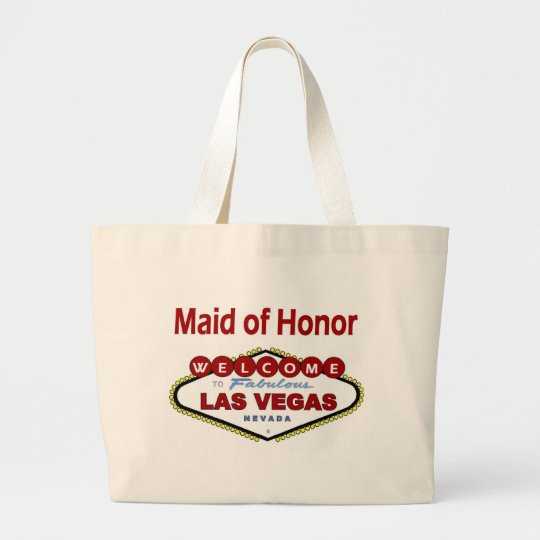 Las Vegas Maid of Honour New Colour Deep Red Large Tote Bag