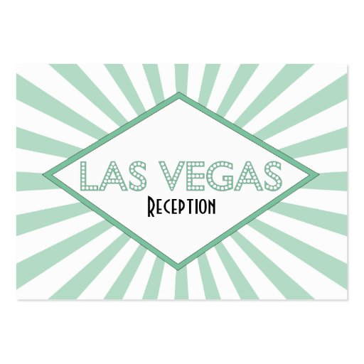 Las Vegas Marquee Reception Cards Business Cards