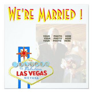 Las Vegas Marriage Announcement  Newlyweds Photo