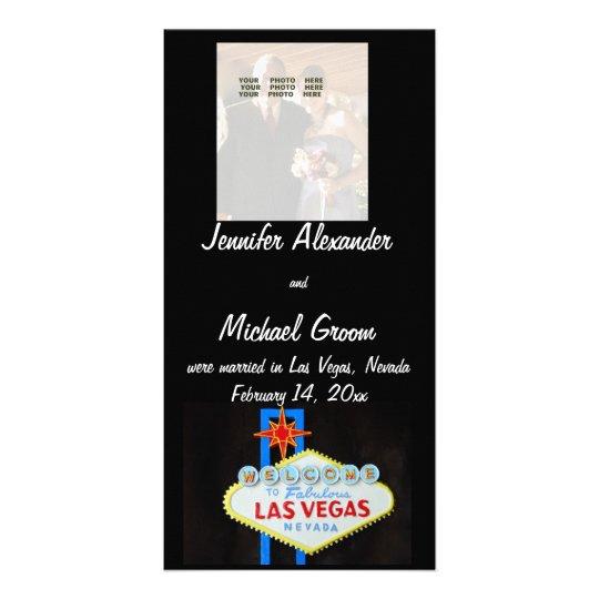 Las Vegas Marriage Announcements Card