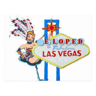 Las Vegas Marriage Elope Announcement Post Card