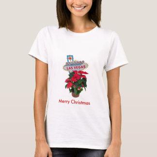Las Vegas Merry Christmas Poinsettias Baby Doll T T-Shirt