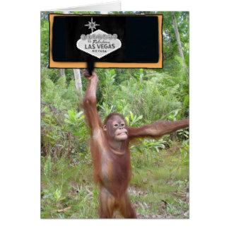 Las Vegas Monkey Business - Bachelor's Party Card