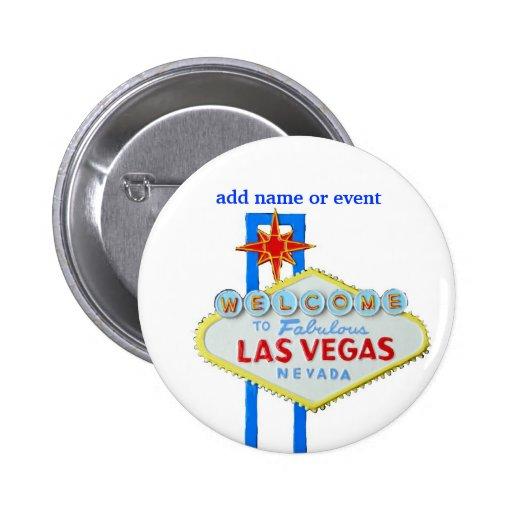 Las Vegas Name Badge Buttons