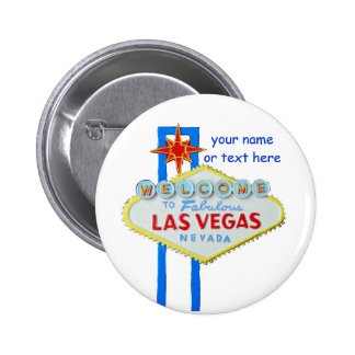 Las Vegas Name Tag Pinback Buttons