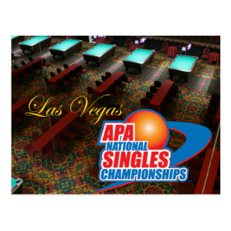 Las Vegas National Singles Championships Postcard