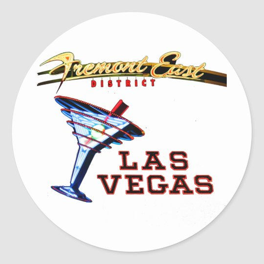 Las Vegas Neon Classic Round Sticker