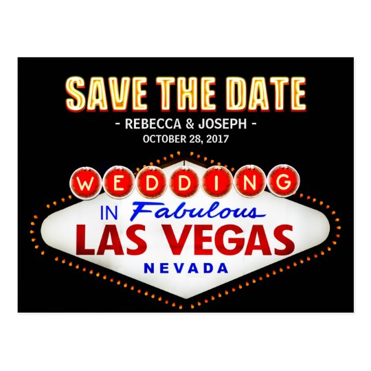 Las Vegas Neon Sign - Save the Date