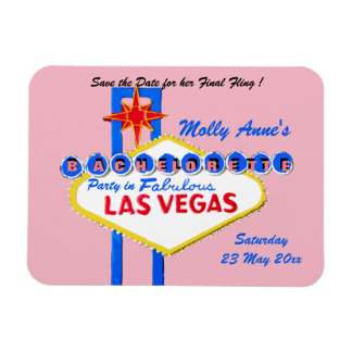 Las Vegas Nevada Bachelorette Party pink Magnet