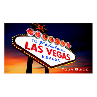 Las Vegas Nevada Casino Tour Guide Travel Agent Pack Of Standard Business Cards