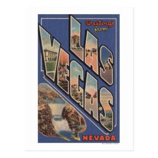 Las Vegas, Nevada - Large Letter Scenes Postcard