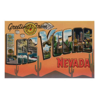 Las Vegas, Nevada - Large Letter Scenes Poster