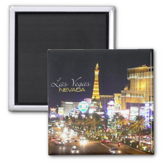 Las Vegas Nevada Nighttime Souvenir Fridge Magnets