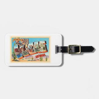 Las Vegas Nevada NV Old Vintage Travel Souvenir Luggage Tag