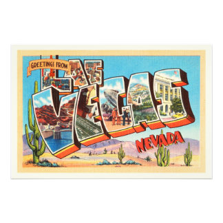 Las Vegas Nevada NV Old Vintage Travel Souvenir Photograph